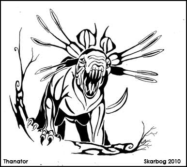 Thanator line art