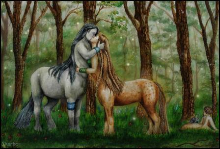 Centaur_Love_by_Skarbog