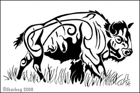buffalo_by_Skarbog